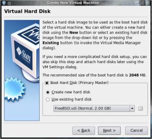 create new hardisk